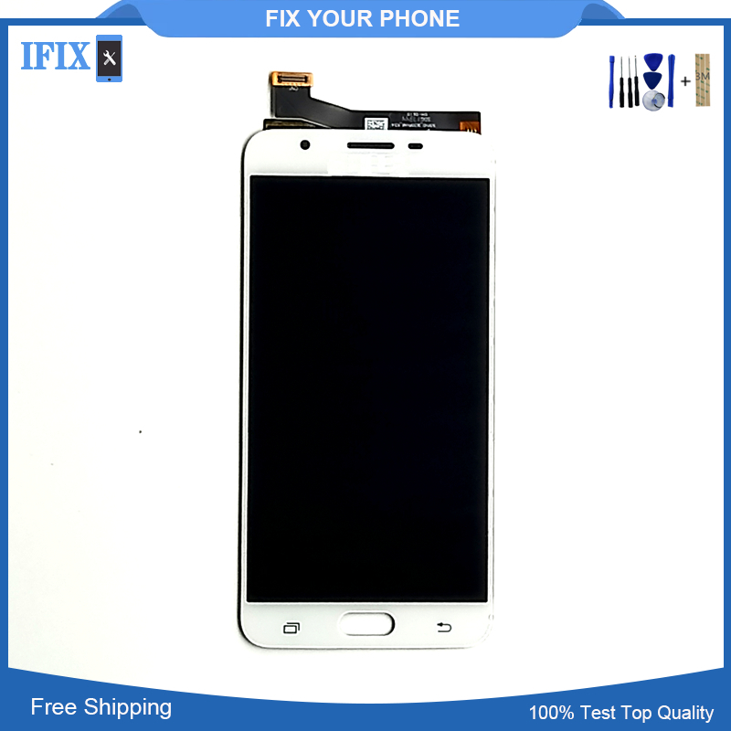 For Samsung Galaxy J7 Prime LCD G610F G610K G610L G610S G610Y Original LCD with Touch Screen Assembly Free Shipping 2pcs/lot