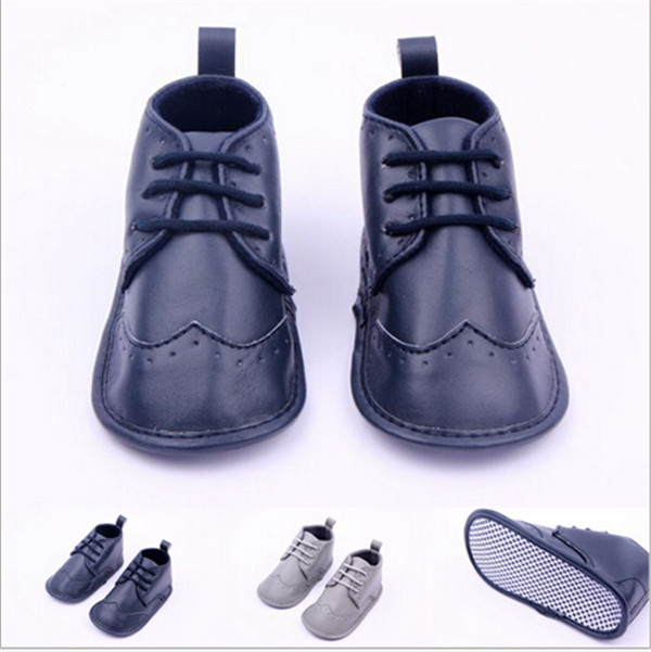 2015 Fashion Faux Leather Baby Antislip Shoes Infant First Walkers With Air Hole Toddler Baby Boys Shoes Boots